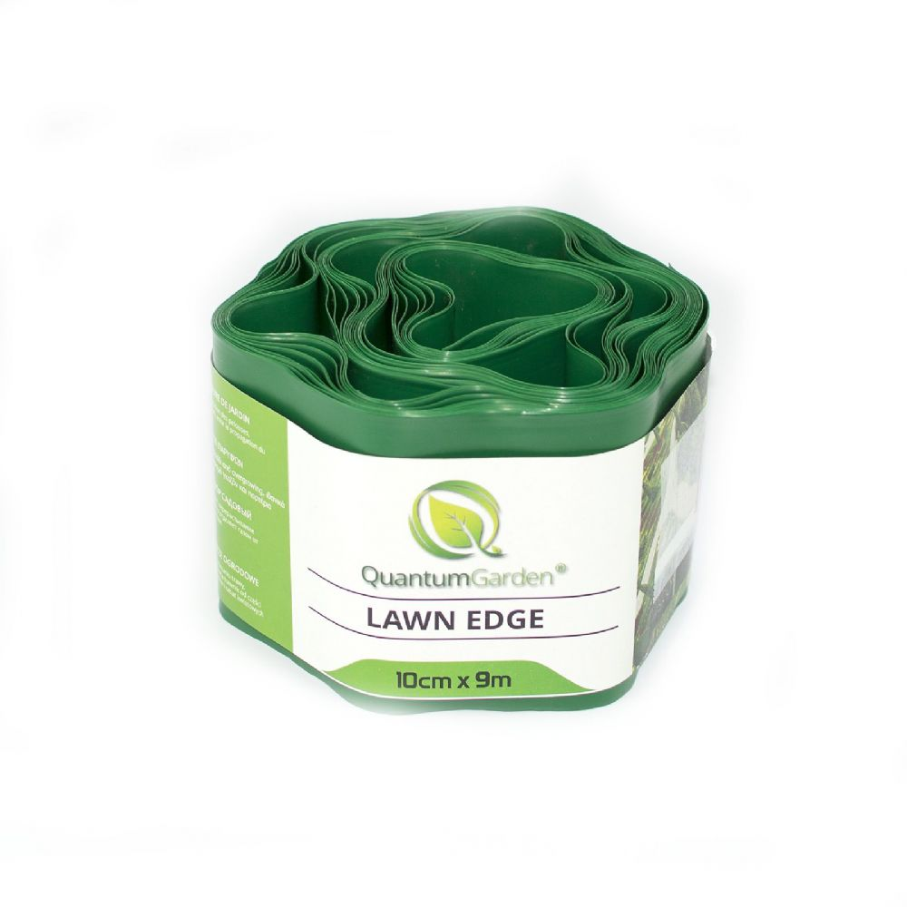 Flexible Plastic Lawn Edge 10cm x 9m in Green Colour